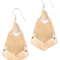 Brushed Brass Earrings