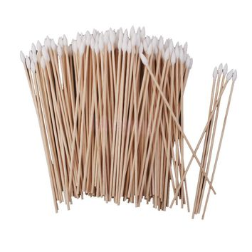 200pcs Cotton Swabs Single Tip Wood Handle Makeup Applicator 15cm Free Shipping