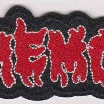 Behemoth Iron-On Patch Red Letters Logo