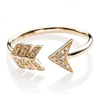 Diamond Arrow Ring by EF Collection