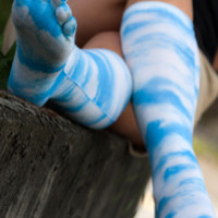 Socks by Sock Dreams » .Socks » Toe Socks » Printed Clouds Toe Socks