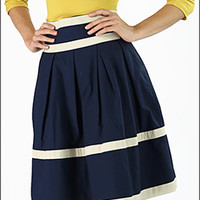 Cotton A-line Striped Skirt [S1321] - $39.99 : Mikarose Fashion, Reinventing Modest Fashion