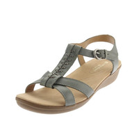 Naturalizer Womens Weslie Leather Strappy Wedges