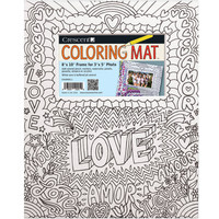 "Crescent Coloring Mat, 8"" x 10"" Kids Love This Prefect Gift"