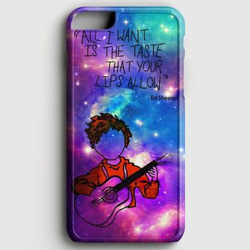 Ed Sheeran Guitar Galaxy iPhone 6 Plus/6S Plus Case