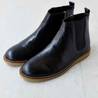 Hawkings McGill Leather Chelsea Side-Zip Boot- Black