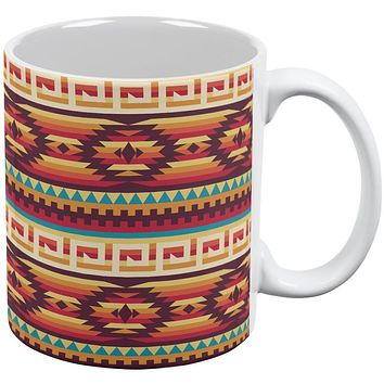 Native American Pattern All Over Coffee Mug
