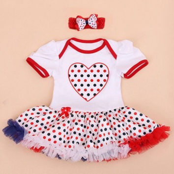 Patriotic / 4th of July Girls Tutu Dress with Headband