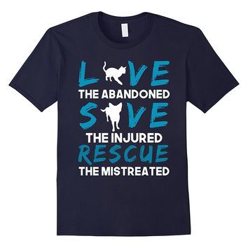 Dog Rescue Tee Animal Cat Rescue Shirt Love The Abandoned