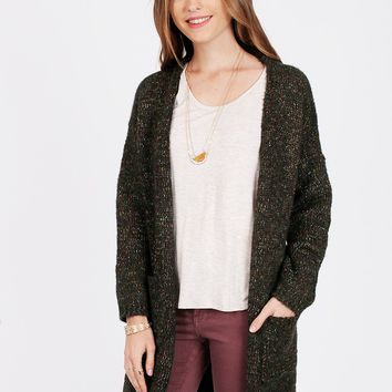 Begin Again Speckled Cardigan