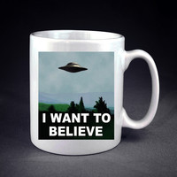The X Files I Want to Believe Personalized mug/cup