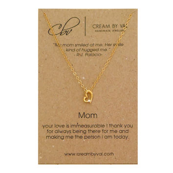 Gold Heart Mom Necklace