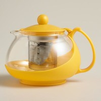 Yellow Glass Infuser Teapot