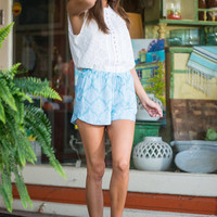 Rave Review Shorts, Aqua