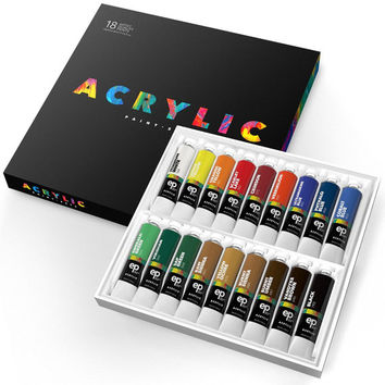Acrylic Paint Set Art Supplies Acrylic Painting Set Painting Supplies for Artist 18 Pieces