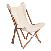 Tripolina Folding Chair Beige by Segno Italiano