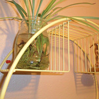 Mid Century Hanging Metal Plant Stand  by HarriettsHallway on Etsy
