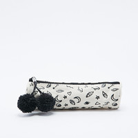 Scribble Mini Pencil Case in Ivory - Urban Outfitters