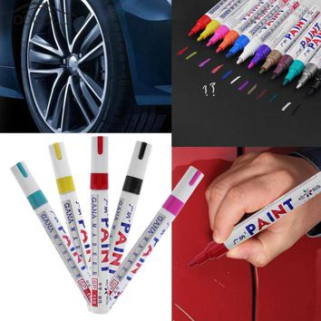 Colorful Waterproof Car Wheel Tire Oily Mark Pen Auto Rubber Tyre Tread CD Metal Permanent Paint Marker Graffiti Marcador Caneta