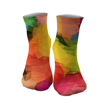 Colorful Geometric socks