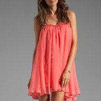 BLAQUE LABEL Short Chiffon Dress in Sugar Coral from REVOLVEclothing.com