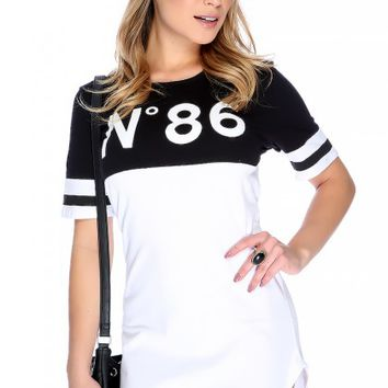 Sexy Black White Graphic Print Short Sleeve Casual Dress