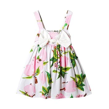 New Summer 2017 Baby Girl Princess Tutu Dress for 1 2 year newborn birthday party Cute Print Kids Dresses School Girls Clothes