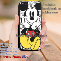 Cute Mickey Mouse Comics iPhone 6s 6 6s+ 5c 5s Cases Samsung Galaxy s5 s6 Edge+ NOTE 5 4 3 #cartoon #animated #disney #MickeyMouse dl12