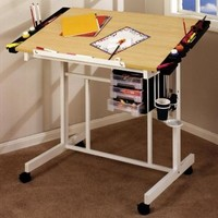 Studio Designs Deluxe Rolling Drafting Table Station - Walmart.com