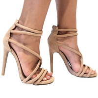 Diamond Heels In Taupe