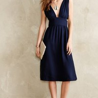 Silk Cut-Out Dress by Anthropologie