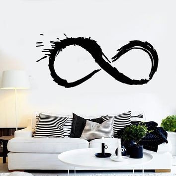 Vinyl Wall Decal Eternity Infinity Sign Bedroom Decoration Stickers Unique Gift (488ig)