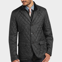 RFT BY RAINFOREST BLACK QUILTED SLIM FIT JACKET