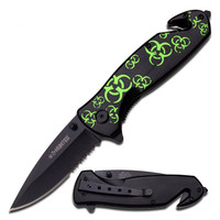 Z-Hunter 4.75in Folder Knife With Black Aluminum Handle