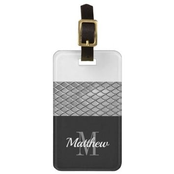 Personalized | Monogram Boys Mens Bag Tag