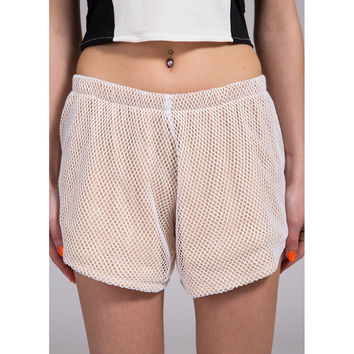 Mesh Tan Shorts by No Fixed Abode