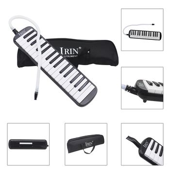 new style 32 Piano Keys black Melodica Musical Instrument for Music Lovers Beginners Gift with Carrying Bag
