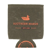 Waxed Cotton Drink Holder in Dark Green by Southern Marsh