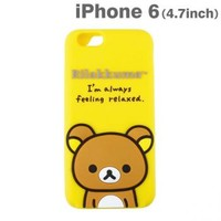 Strapya World : San-X Rilakkuma Message Silicone Case for iPhone 6 (Rilakkuma)