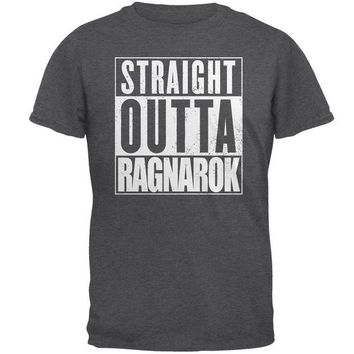 CUPUPWL Straight Outta Ragnarok Viking Mens T Shirt