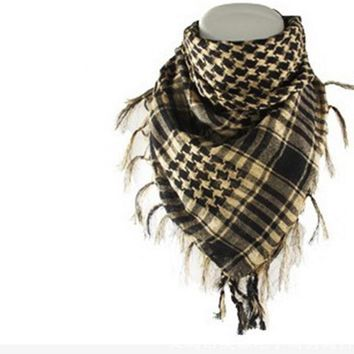 2018 Arab Keffiyeh Shemagh Scarf Military Tactical Scarves Thickened Hijab  Windproof Bandanas  Motobike Palestine Scarf