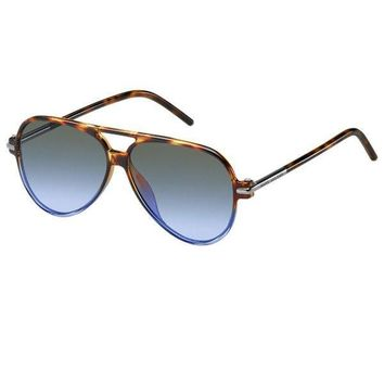 Cool Blue Tortoise Frame Hybrid Sunglasses by Marc Jacobs