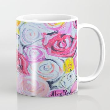 Mothers Day Roses Mug by Alex Rowland