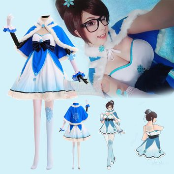 Overwatch Cosplay Mei Ice Queen Costume