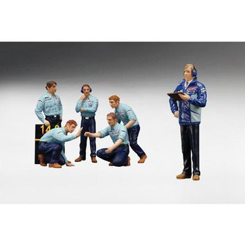 F1 Pit Crew Figures Team Tyrrell 1976 Set of 6pc 1/18 by True Scale Miniatures