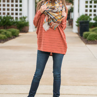 Pumpkin Patch Sweater, Rust