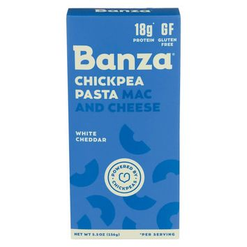Banza Mac N Cheese - White Cheddar - Chickenpea - Case Of 12 - 5.5 Oz