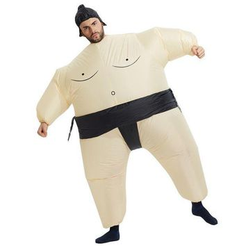 PEAPON 2017 New Inflatable Sumo Costume Halloween Mascot Costumes Party Fancy Costume Animal Costume For Adults With Free Shipping