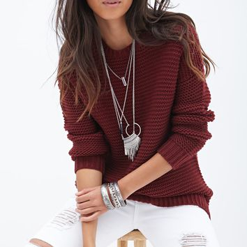 Popcorn-Knit Sweater