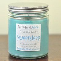 Sweetsleep Soy Candle - 8 oz. jar - bergamot, lily, woods
